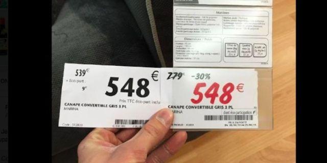 arnaque prix soldes